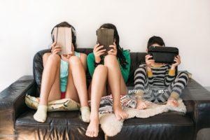 Children addicted to phone