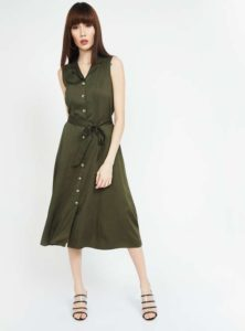 CODE Solid Midi Dress